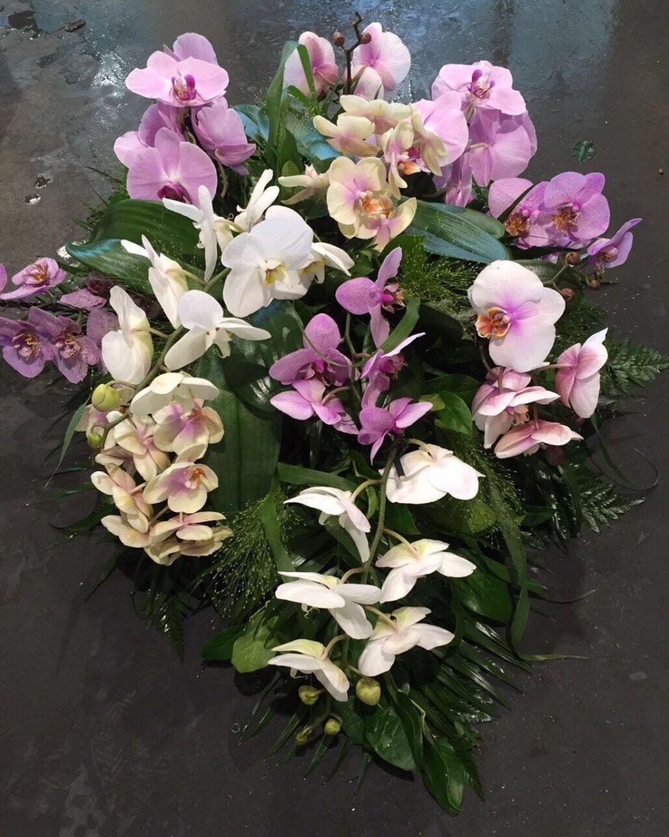 Rouwboeket met orchidee laten maken Oosterhout