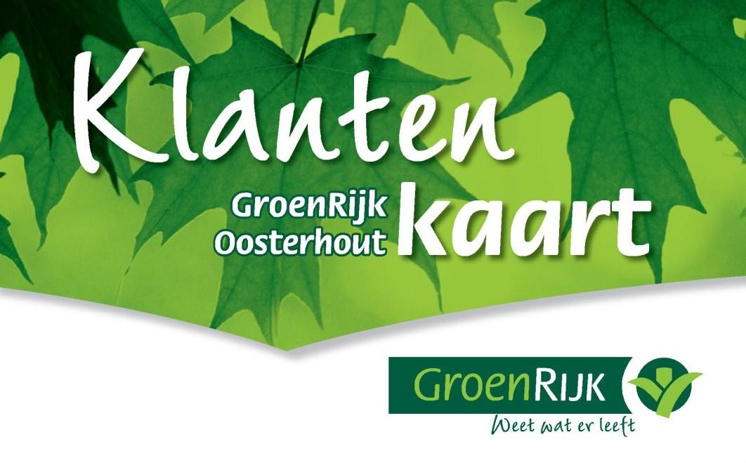 Klantenkaart GroenRijk Oosterhout